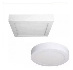 Luminarias de embutir de 24W, circulares y cuadradas